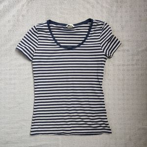 H&M basic striped tee